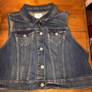 Torrid Jean sleeveless jacket